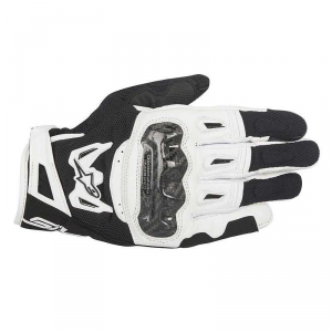 GUANTI MOTO IN PELLE ALPINESTARS SMX-2 AIR CARBON V2 GLOVE BLACK WHITE cod.3567717
