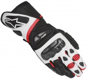 GUANTI MOTO IN PELLE ALPINESTARS SP-1 GLOVES BLACK WHITE RED