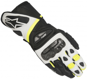 GUANTI MOTO IN PELLE ALPINESTARS SP-1 GLOVES BLACK WHITE YELLOW FLUO