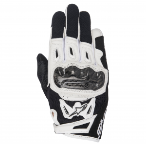 GUANTI MOTO DONNA IN PELLE ALPINESTARS STELLA SMX-2 AIR CARBON V2 GLOVE BLACK WHITE COD. 3517717