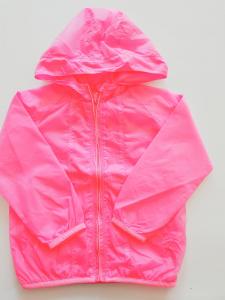 Giacca a vento rosa fluo da bambina 2-16anni