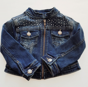 Giacca di jeans corta blu da bambina 2-7 anni