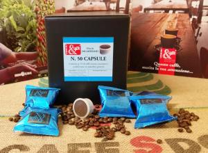 CAPSULE CAFFE' DECAFFEINATO COMPATIBILI LAVAZZA POINT -  50 Pezzi