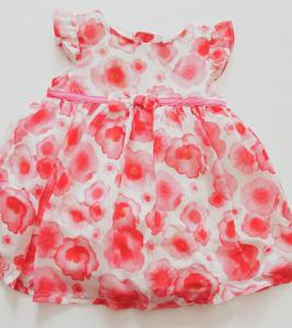 Vestito neonata a fiori