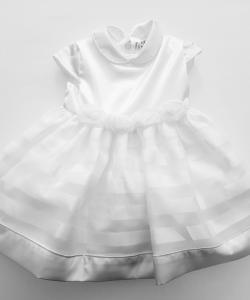 Vestito neonata 3-24 mesi elegante bianco