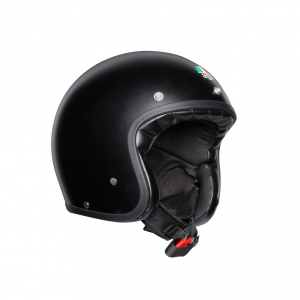 Casco jet AGV Legends X70 E2205 SOLID in fibra Nero opaco