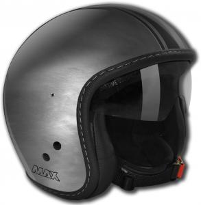 Casco jet Max Knight Scratch Argento scuro