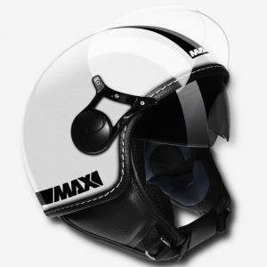 Casco jet Max Power Doppia Visiera Bianco