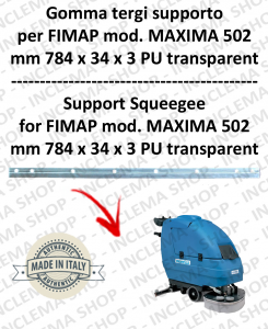 MAXIMA 502 Squeegee rubber supporto for scrubber dryers FIMAP