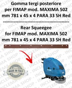 MAXIMA 502 goma de secado trasero para fregadora FIMAP