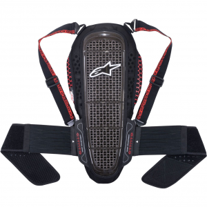 PARASCHIENA MOTO ALPINESTARS NUCLEON KR-1 SMOKE BLACK RED COD. 6504515