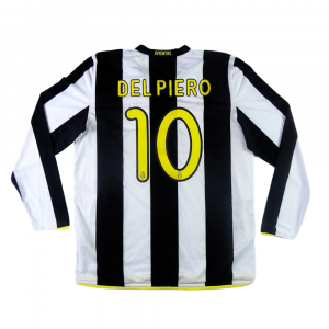 2008-09 Juventus Maglia Home #10 Del Piero XL (Top)
