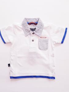Polo neonato 3-30mesi bianca con taschina