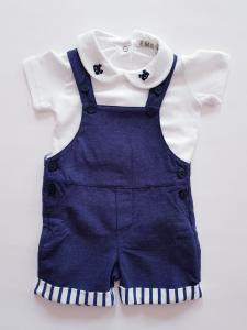 Salopette neonato blu