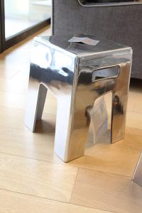 Pouff Gervasoni in alluminio