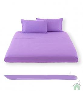 Happidea lenzuolo sotto con angoli singolo 1 piazza - lilla
