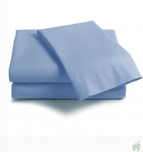 Lenzuola Matrimoniale puro cotone sotto con angoli Maxi materassi grande - azzurro