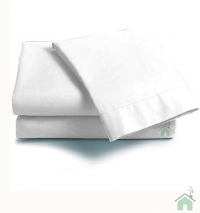 Lenzuola Matrimoniale puro cotone sotto con angoli Maxi materassi grande - bianco