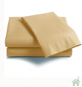 Lenzuola Matrimoniale puro cotone sotto con angoli Maxi materassi grande - crema