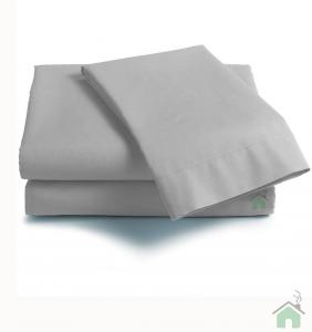 Lenzuola Matrimoniale puro cotone sotto con angoli Maxi materassi grande - grigio perla