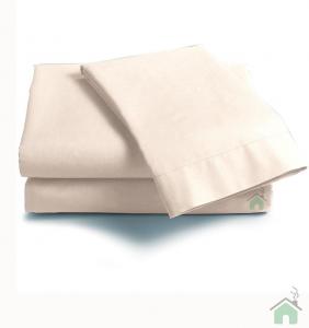 Lenzuola Matrimoniale puro cotone sotto con angoli Maxi materassi grande - panna