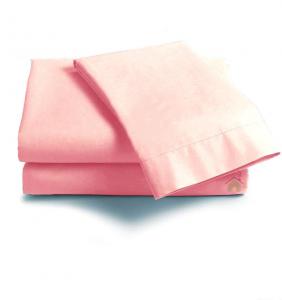 Lenzuola Matrimoniale puro cotone sotto con angoli ISTAR Maxi materassi grande - rosa