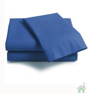 Coppia di federe sfuse in puro cotone tinta unita ISTAR - blu
