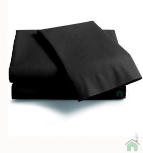 Coppia di federe sfuse in puro cotone tinta unita ISTAR - nero