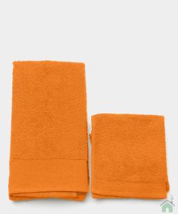 Asciugamani Happidea set 1+1 viso e mani, bagno piscina arredo melone