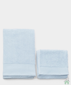 Asciugamani Happidea set 1+1 viso e mani, bagno piscina arredo cielo