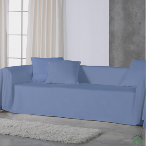 Copridivano copritutto telo Panama 170x270 cm - azzurro