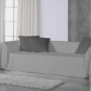 Copridivano copritutto telo Panama 170x270 cm - grigio
