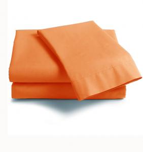 Lenzuola Matrimoniale puro cotone sotto con angoli Maxi materassi grande - zucca