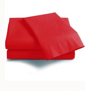 Lenzuola Matrimoniale puro cotone sotto con angoli Maxi materassi grande - rosso