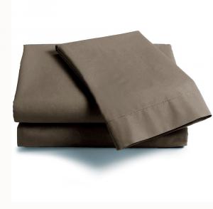 Lenzuola Matrimoniale puro cotone sotto con angoli ISTAR Maxi materassi grande - tortora