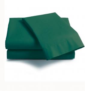 Coppia di federe sfuse in puro cotone tinta unita ISTAR - verde inglese