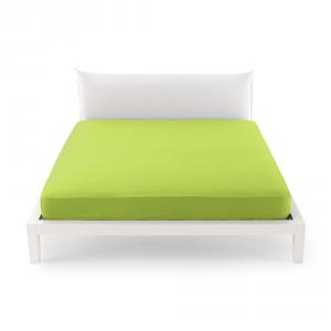 Bassetti Time Lenzuola di sotto per letto matrimoniale 175x200 - verde 3205