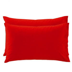 2 Federe per guanciali Bassetti Time 50x80 - rosso 3140
