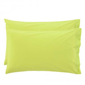 2 Federe per guanciali Bassetti Time 50x80 - verde 3205