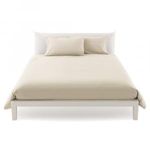 Copripiumino misura maxi 270 x 270 copritrapunta matrimoniale puro cotone ISTAR - panna