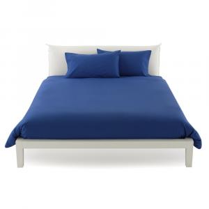 Copripiumino misura maxi 270 x 270 copritrapunta matrimoniale puro cotone ISTAR - blu cina