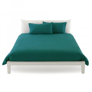 Copripiumino misura maxi 270 x 270 copritrapunta matrimoniale puro cotone ISTAR - verde inglese