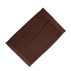 Happidea asciugamano ospite in spugna Voglia di Colore 450 grammi 40x60 cm - cacao