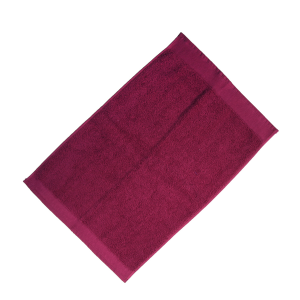 Happidea asciugamano ospite in spugna Voglia di Colore 450 grammi 40x60 cm - amarena