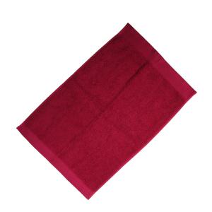 Happidea asciugamano ospite in spugna Voglia di Colore 450 grammi 40x60 cm - bordeaux