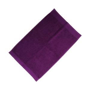 Happidea asciugamano ospite in spugna Voglia di Colore 450 grammi 40x60 cm - porpora