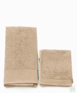 Asciugamani Happidea set 1+1 viso e mani, bagno piscina arredo Canapa