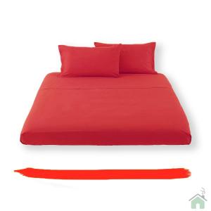 Happidea lenzuolo sotto con angoli singolo 1 piazza - rosso