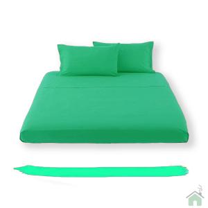 Happidea lenzuolo sotto con angoli singolo 1 piazza - smeraldo