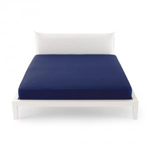 Bassetti Time Lenzuola di sotto per letto singolo 90x200 - blu 1323